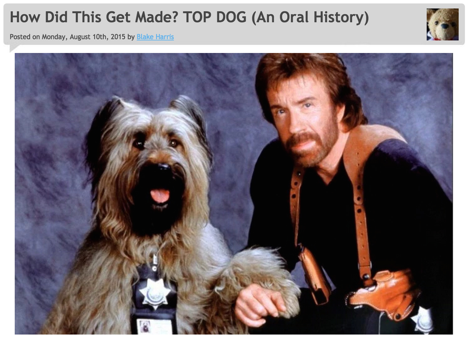 8/10/2015: TOP DOG