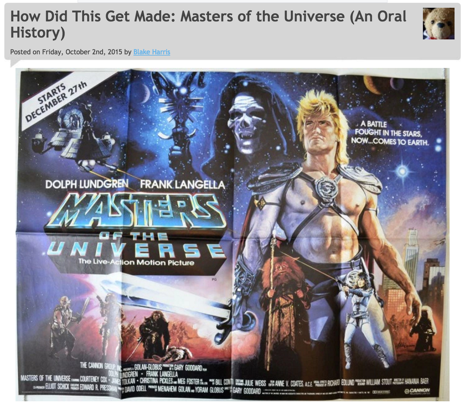 10/2/15: MASTERS OF THE UNIVERSE