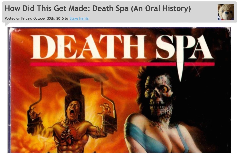 10/30/15: DEATH SPA