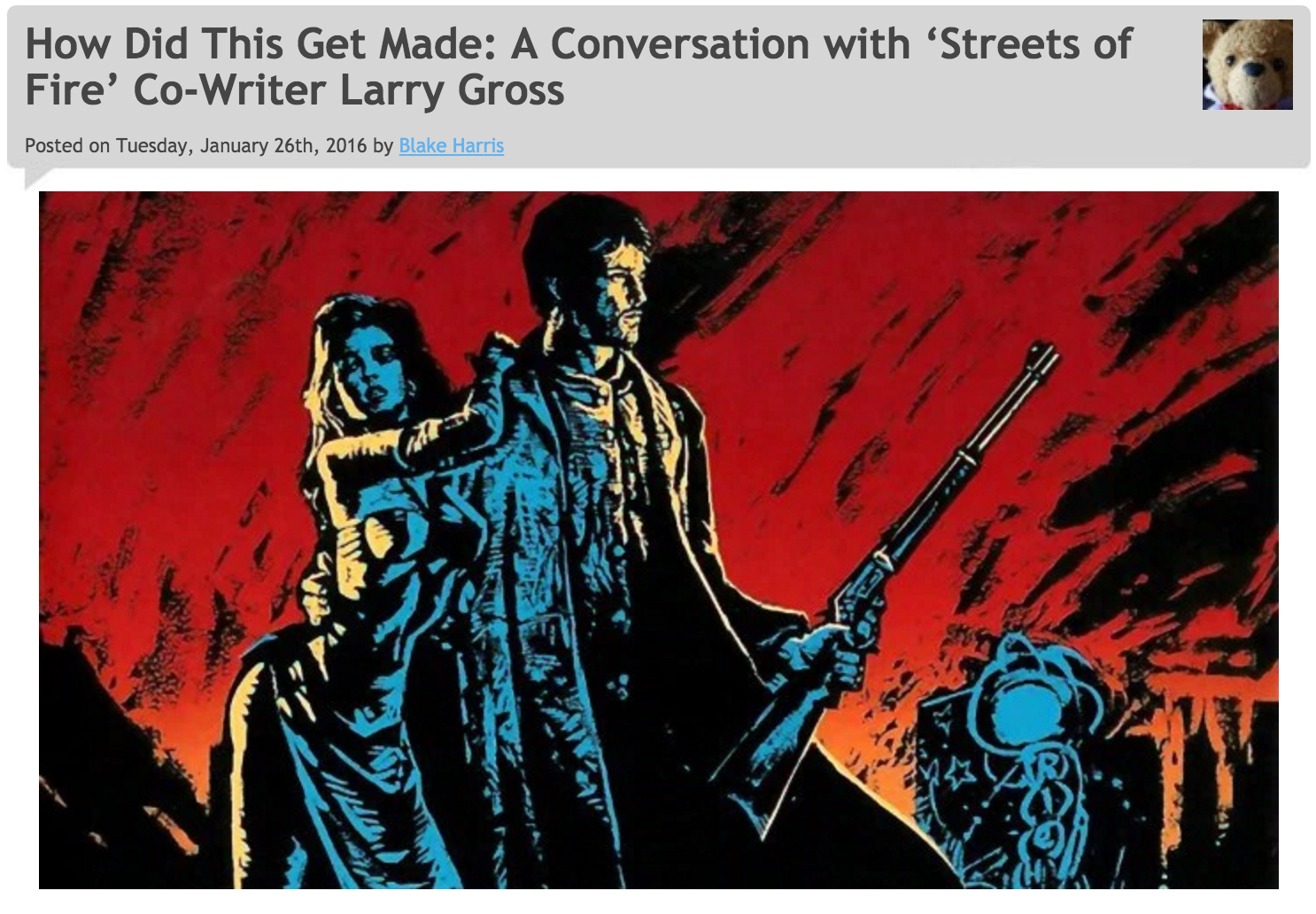 1/26/16: STREETS OF FIRE