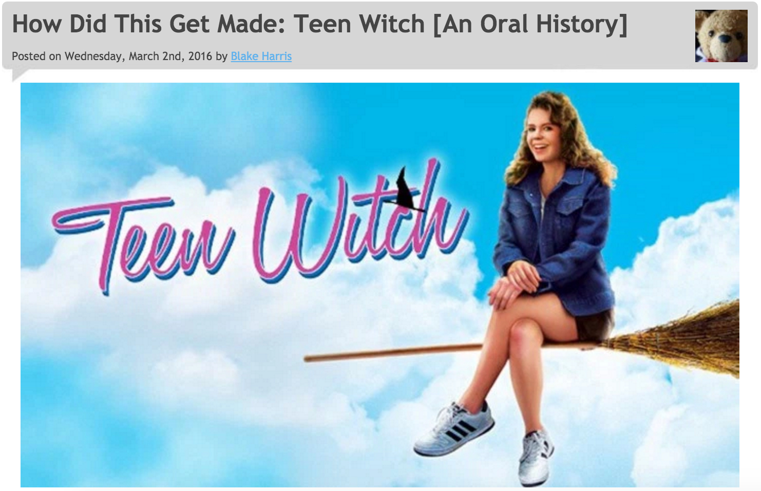 3/2/16: TEEN WITCH