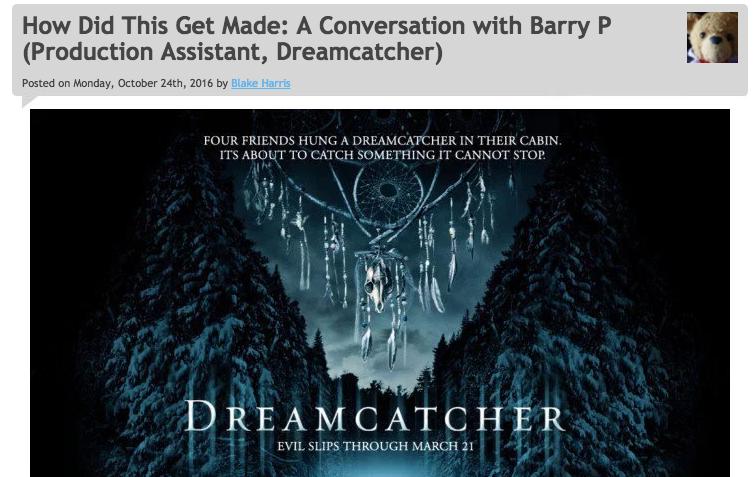 10/24/16: DREAMCATCHER