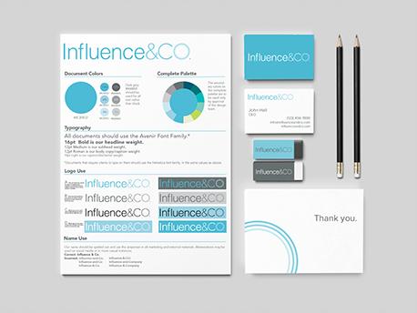 Influence & Co. Branding.