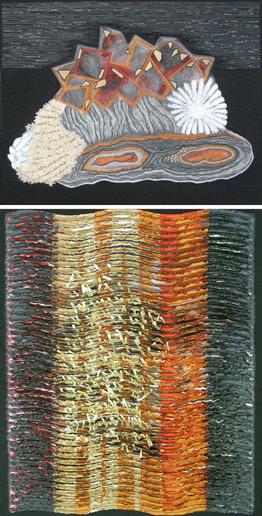 Mineral in Composition, diptych