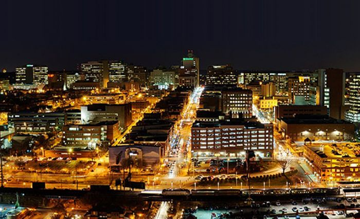 Wilmington skyline at night