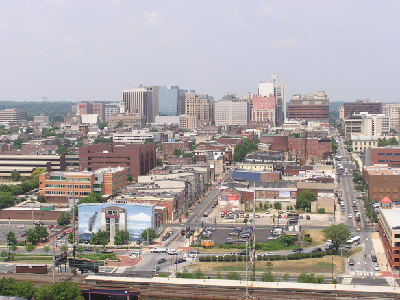 Wilmington skyline from tower