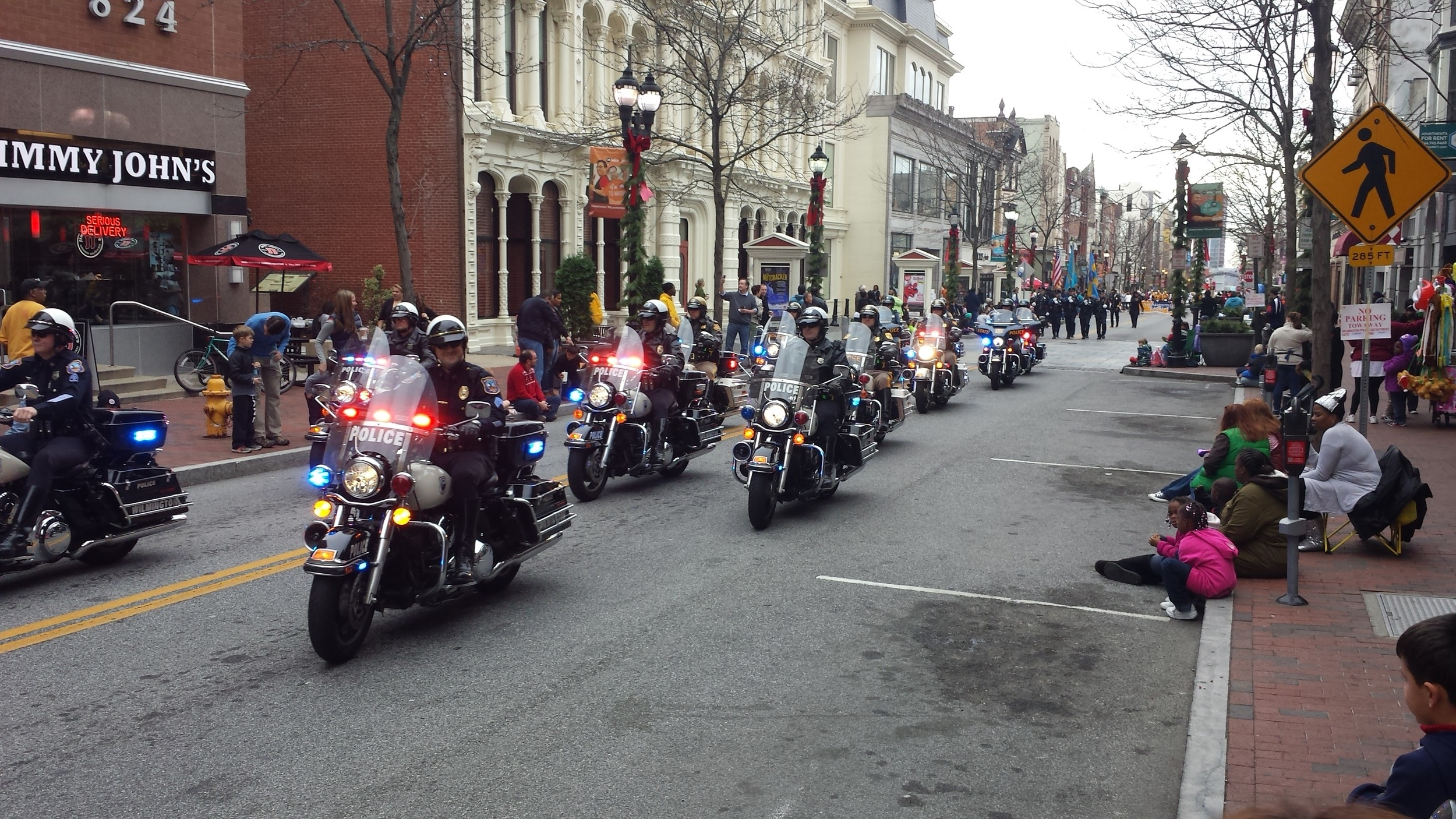Parade Nov 28, 2015 police on motorcycles