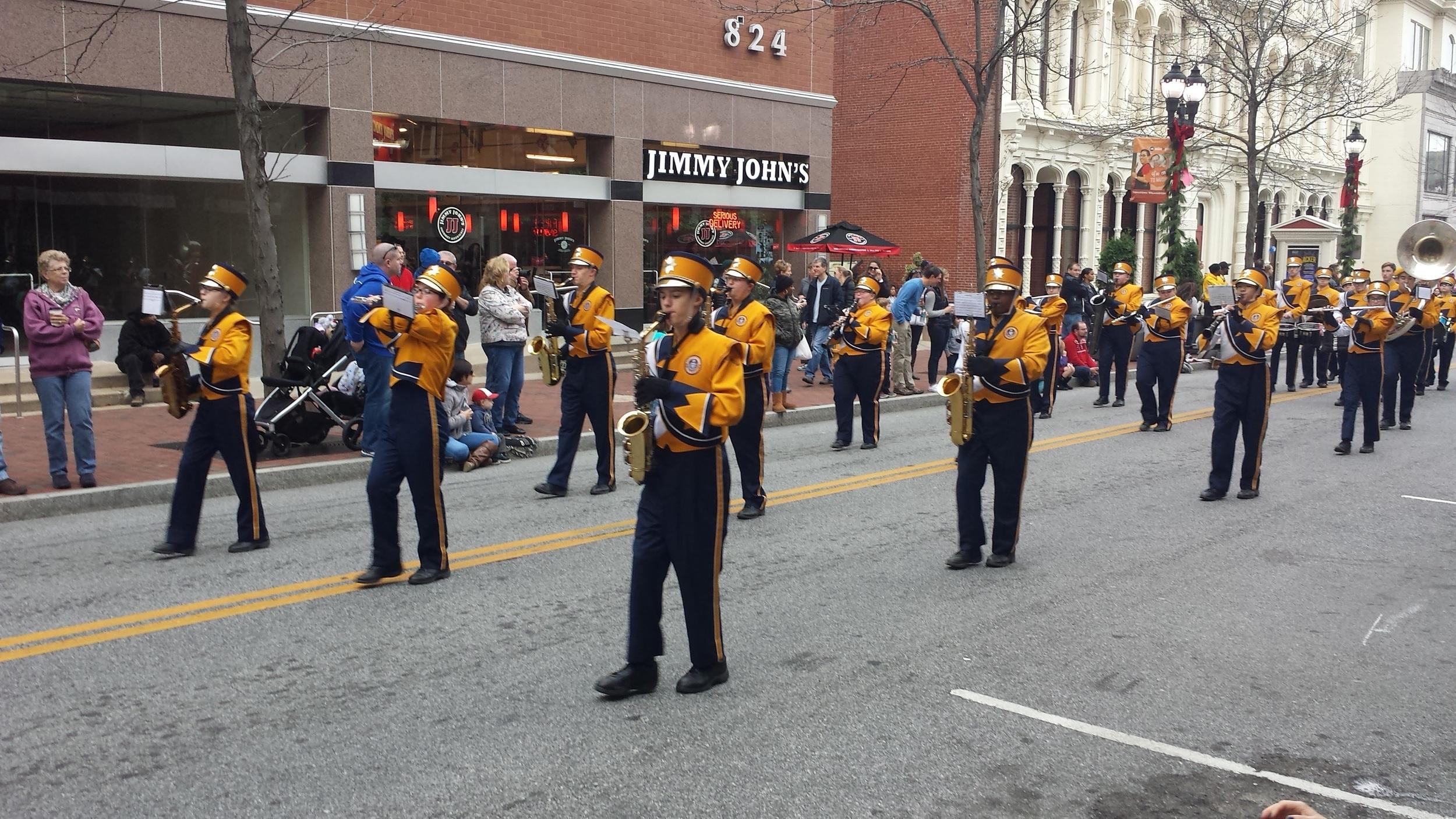 parade nov 29, 2015 marching band