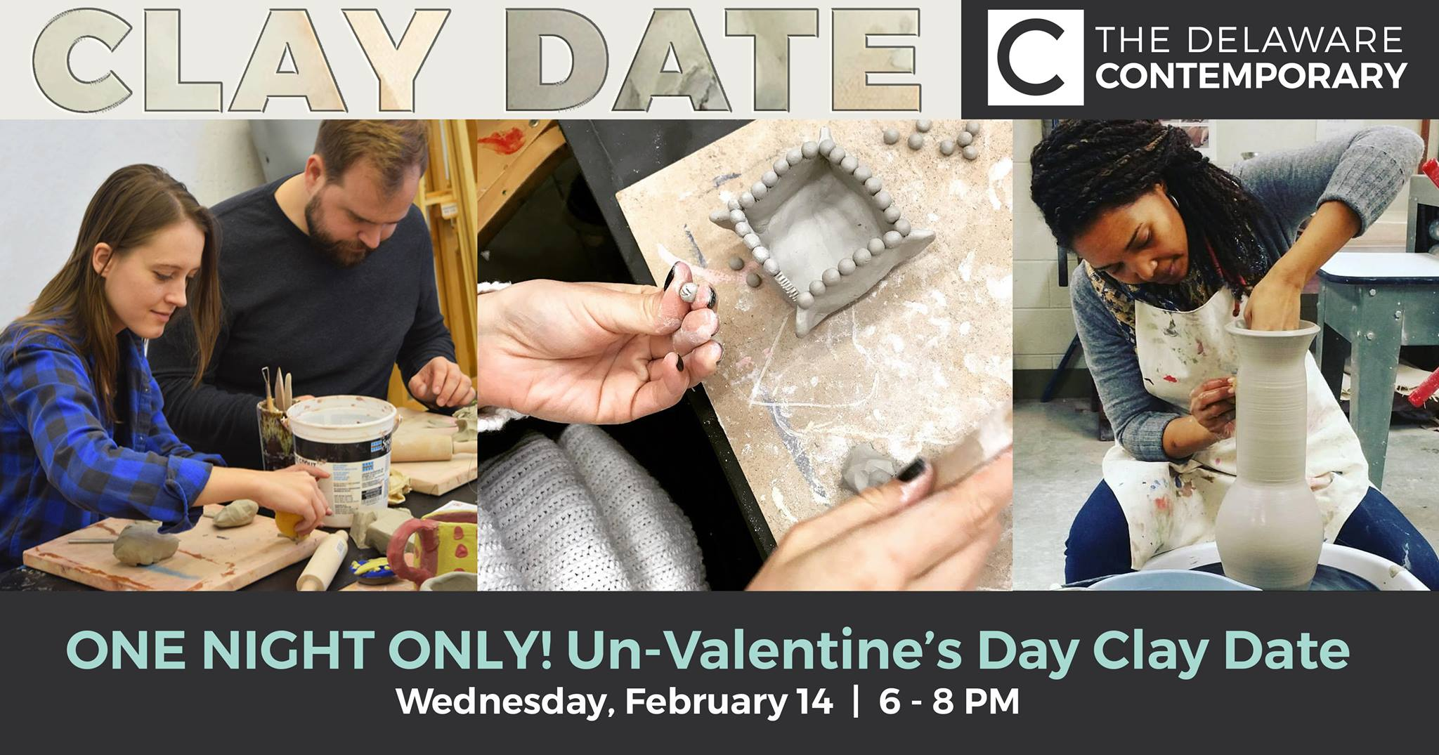 Valentines day clay date