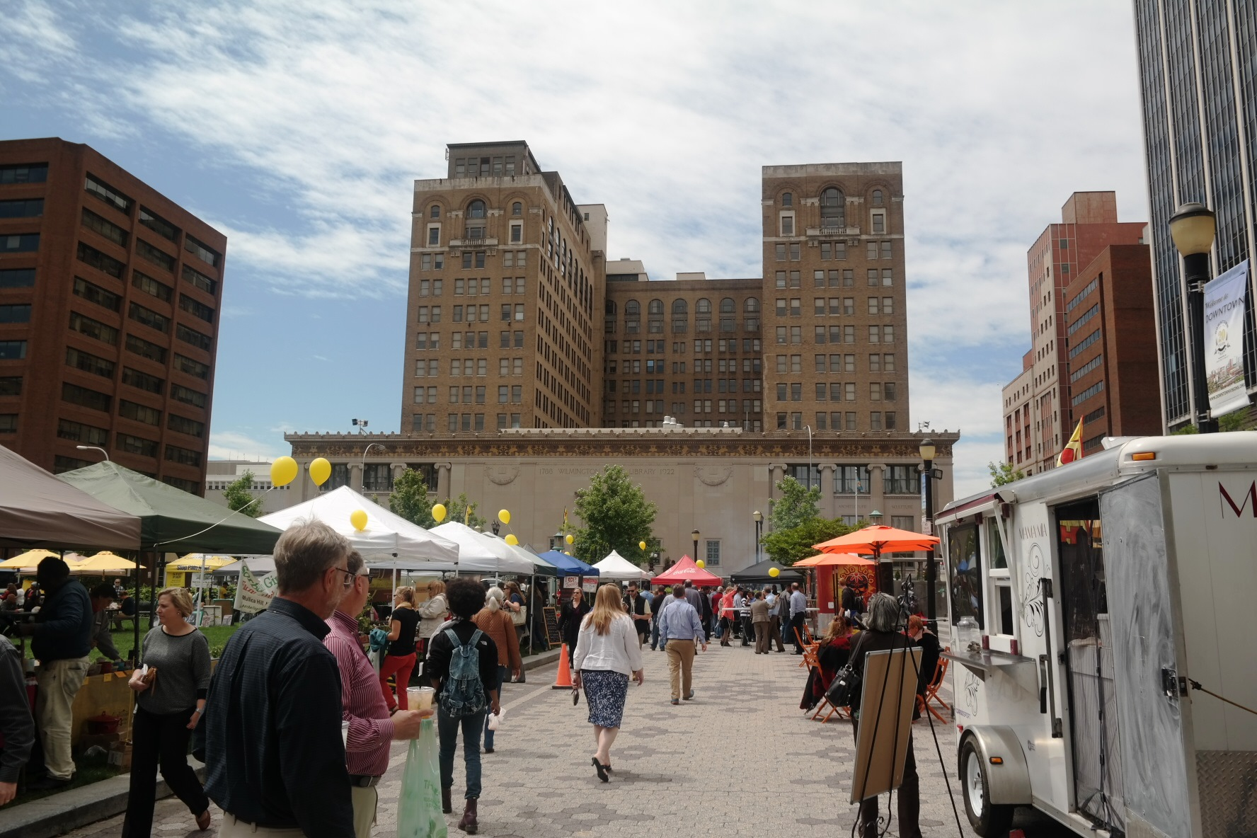 Downtown Wilmington DE Farmers market