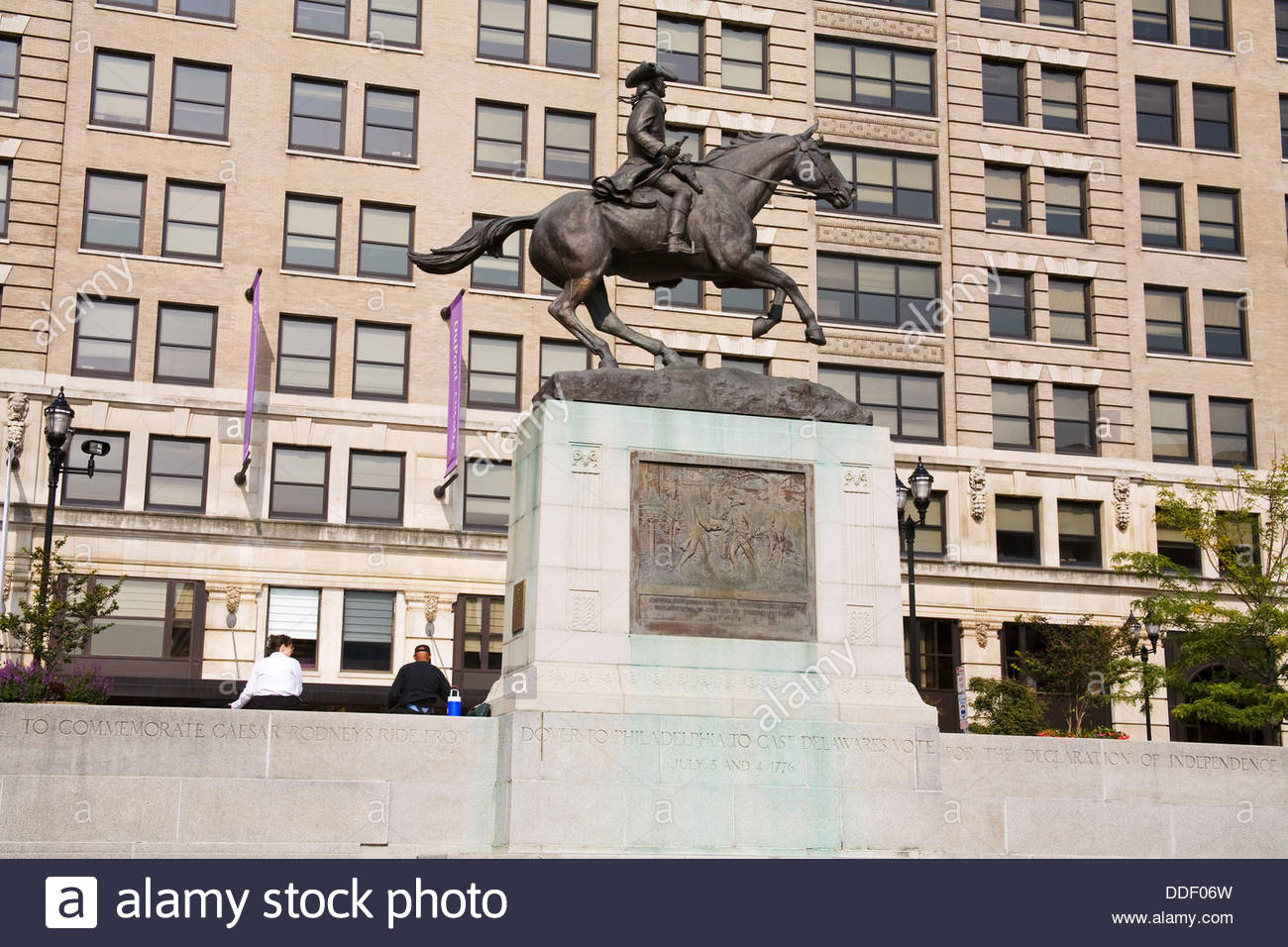 Rodney Square is the public square and national historic district located in downtown Wilmington, New Castle County, Delaware, named after American Revolutionary leader Caesar Rodney.