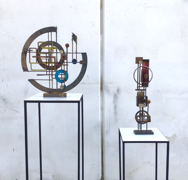Original Frank Cota Metal Sculptures