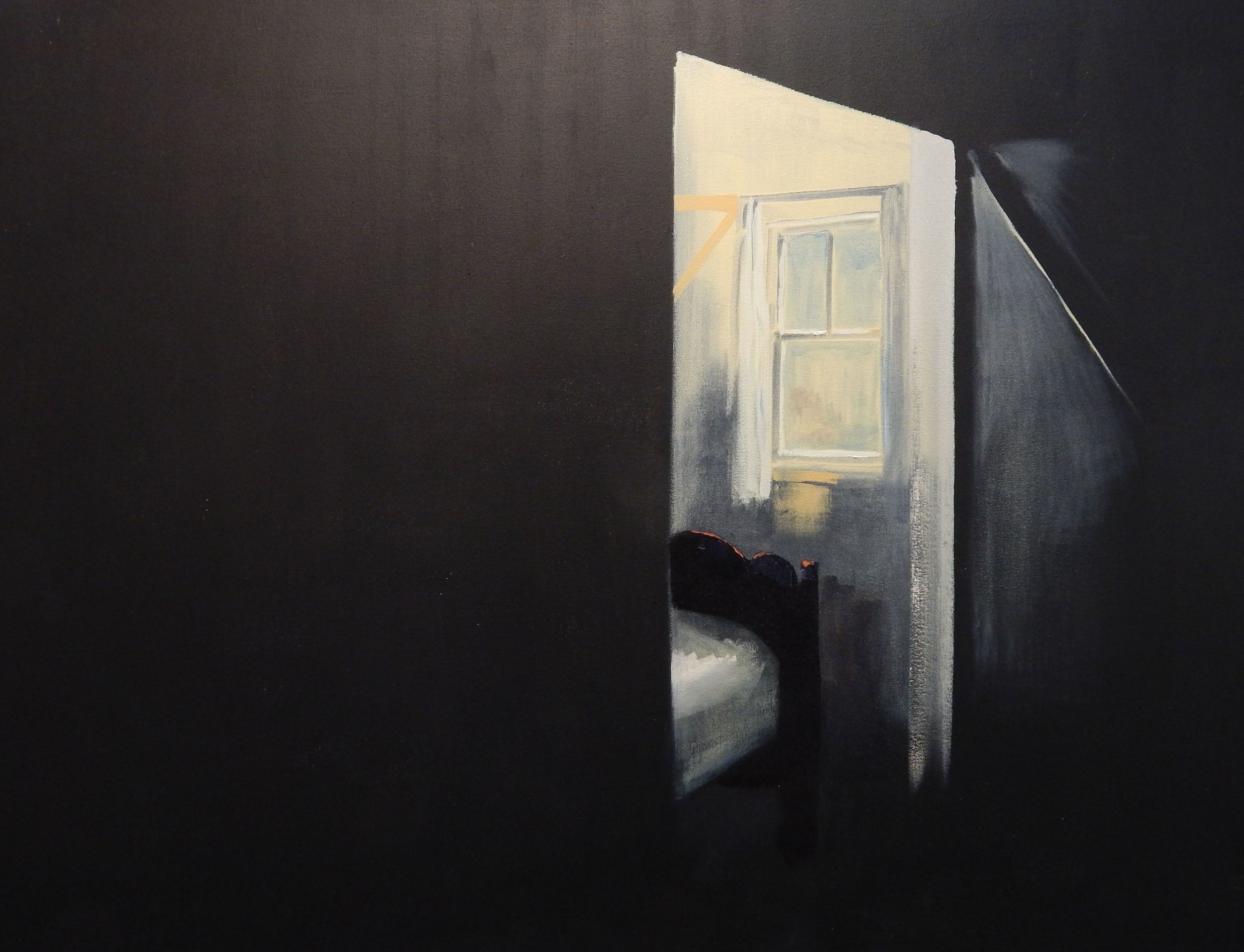 Bedside window. 42''x54'' Oil on Canvas