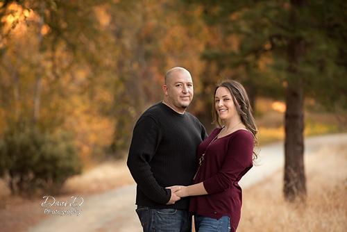 Fall colors couples portrait - Redding CA Photographer - Dani D Photography