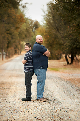 Father and son portrait - Redding CA Photographer - Dani D Photography
