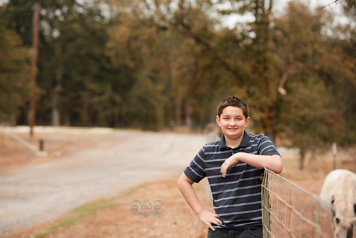 Boy leaning on fence - Redding CA Photographer - Dani D Photography