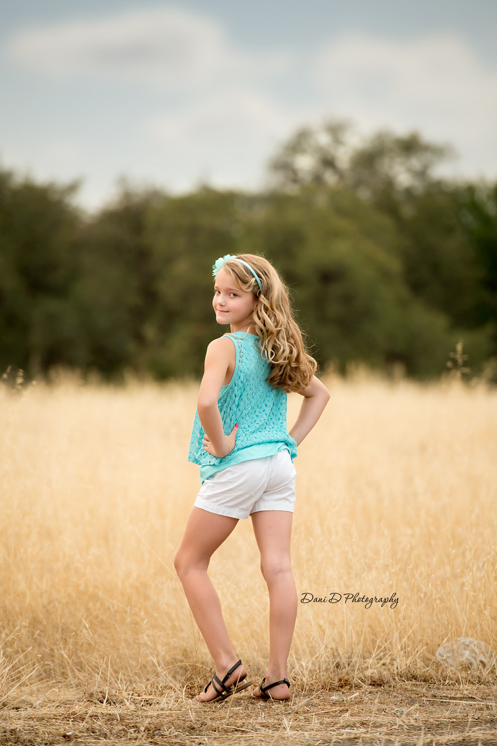 Photo of female child model outside - Redding CA photographer - Dani D Photography