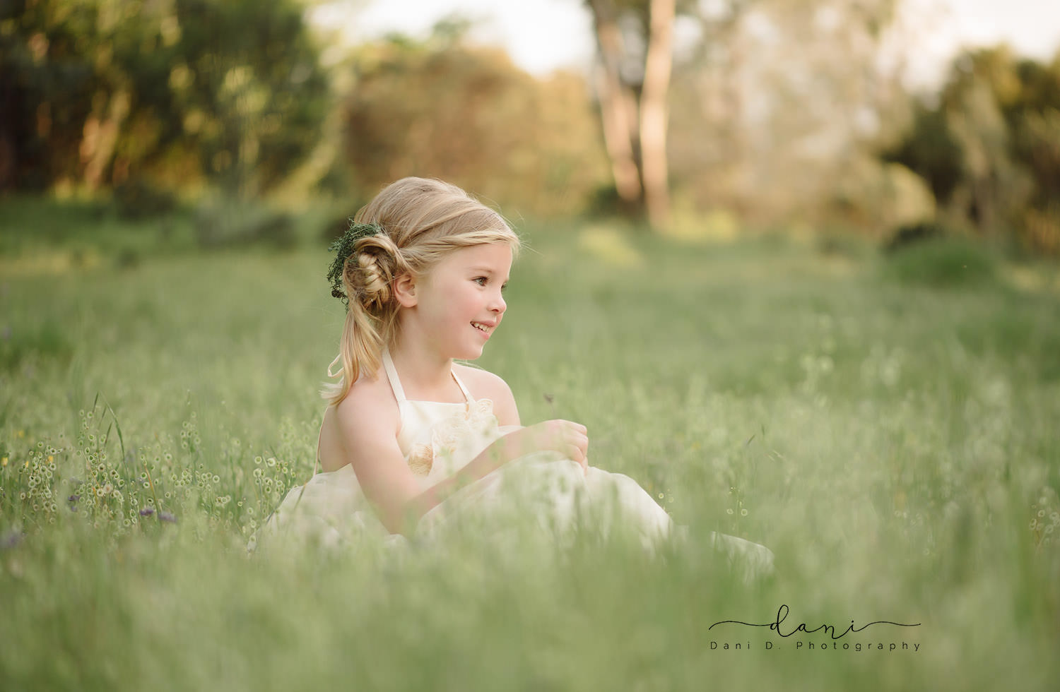 Child model Brynn in a field of wildflowers - Redding, CA photographers