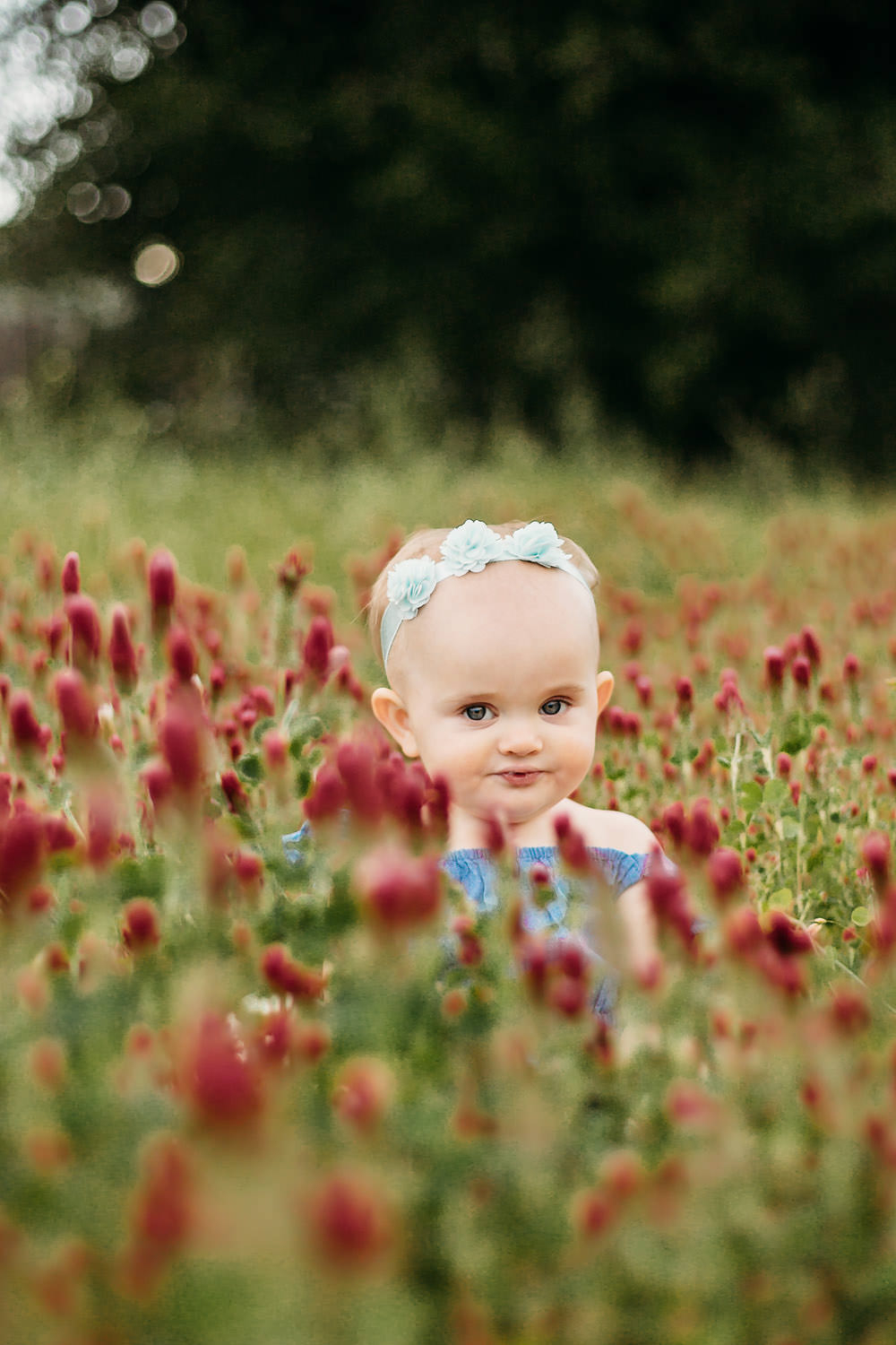 Mother and Daughter in a field of red flowers - Redding CA family photos