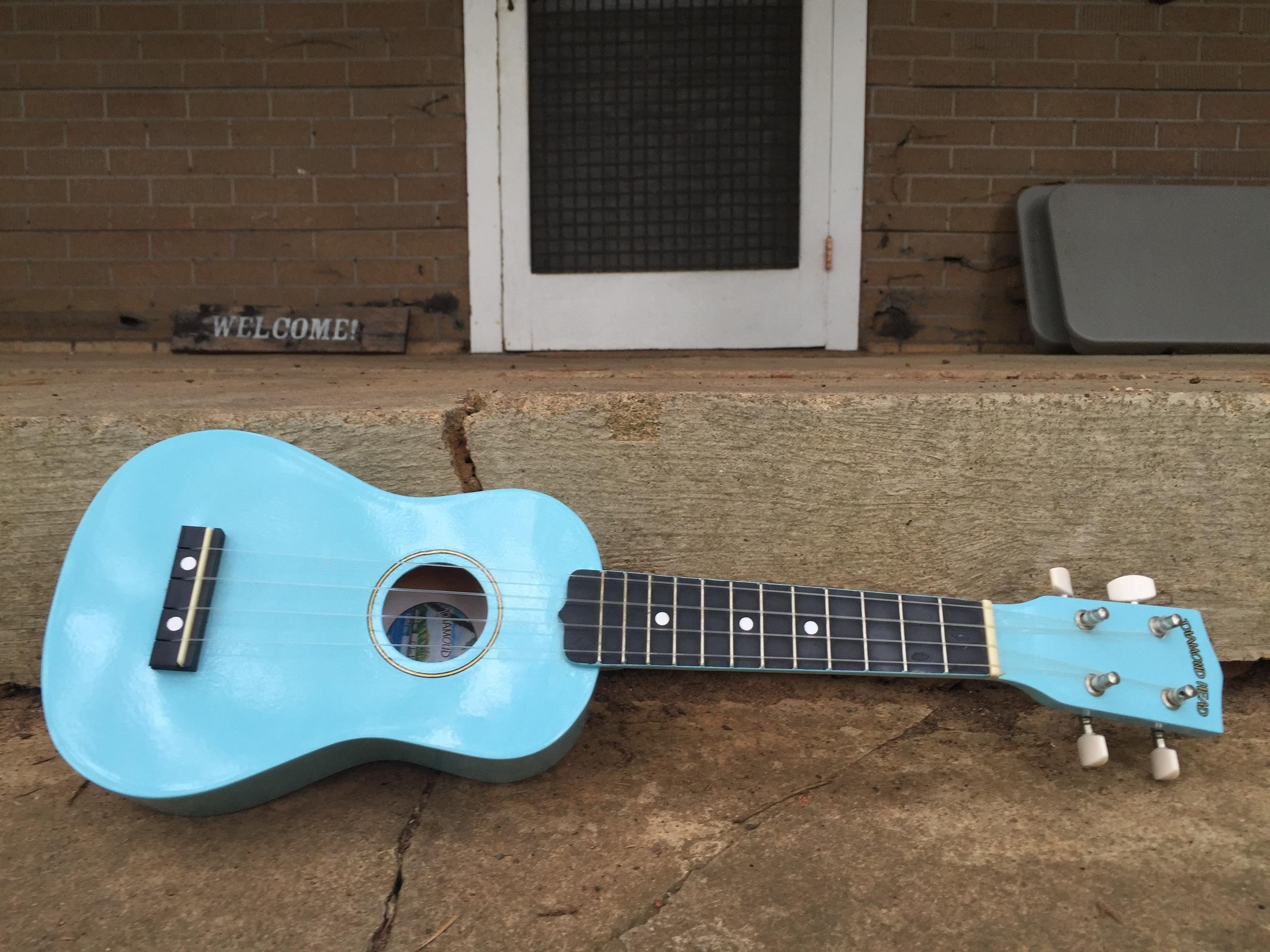 My blue uke. Original image taken by David Wilder.