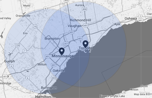 Areas Served include: Mississauga, Toronto, Oakville, Brampton, Hamilton, Scarborough, Vaughn, Richmond Hill, Orangeville, Milton, Ajax