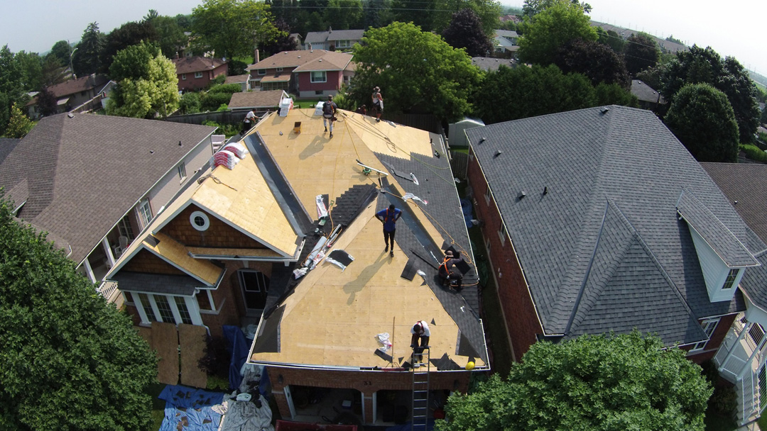 During Roof Installation