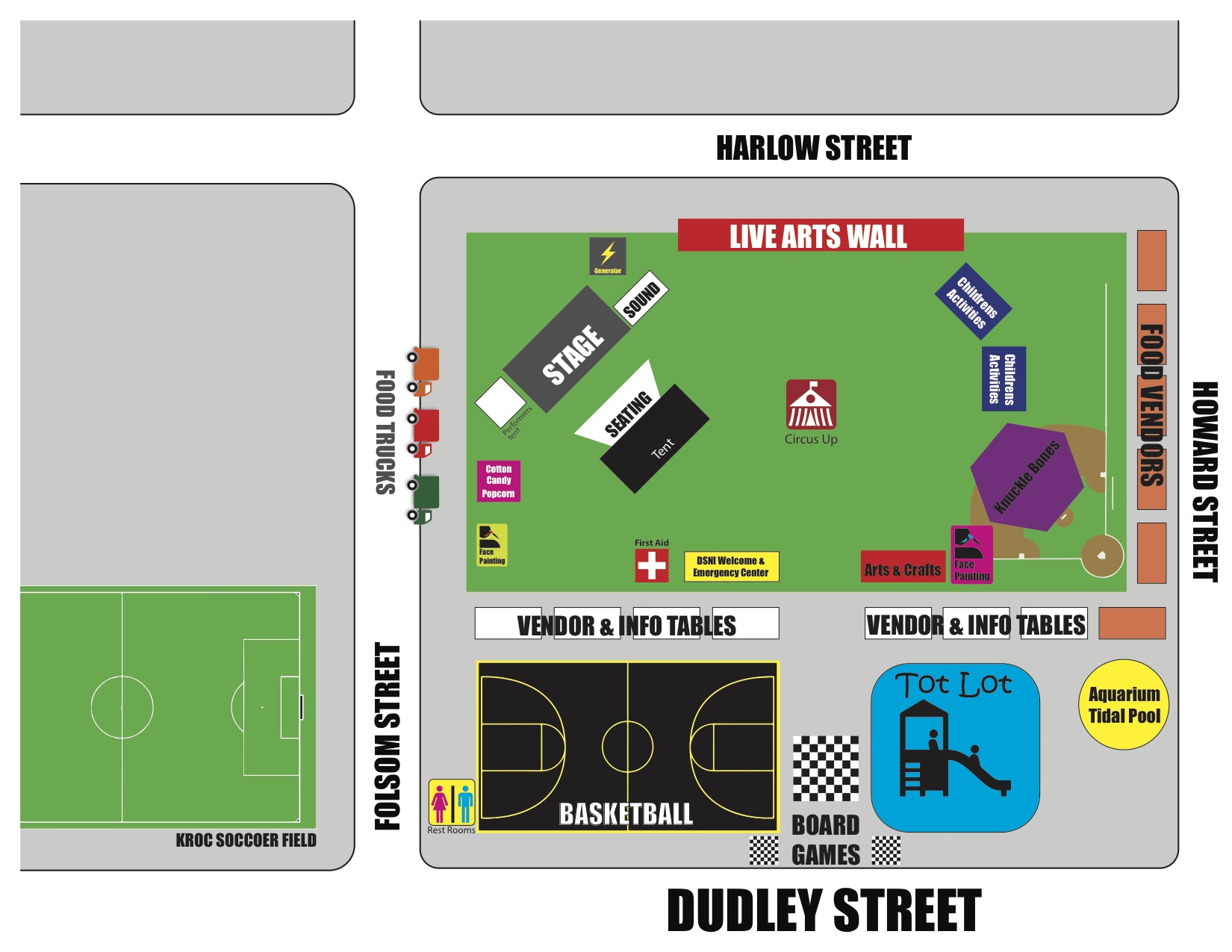 ParK layout for Multicultural Festival