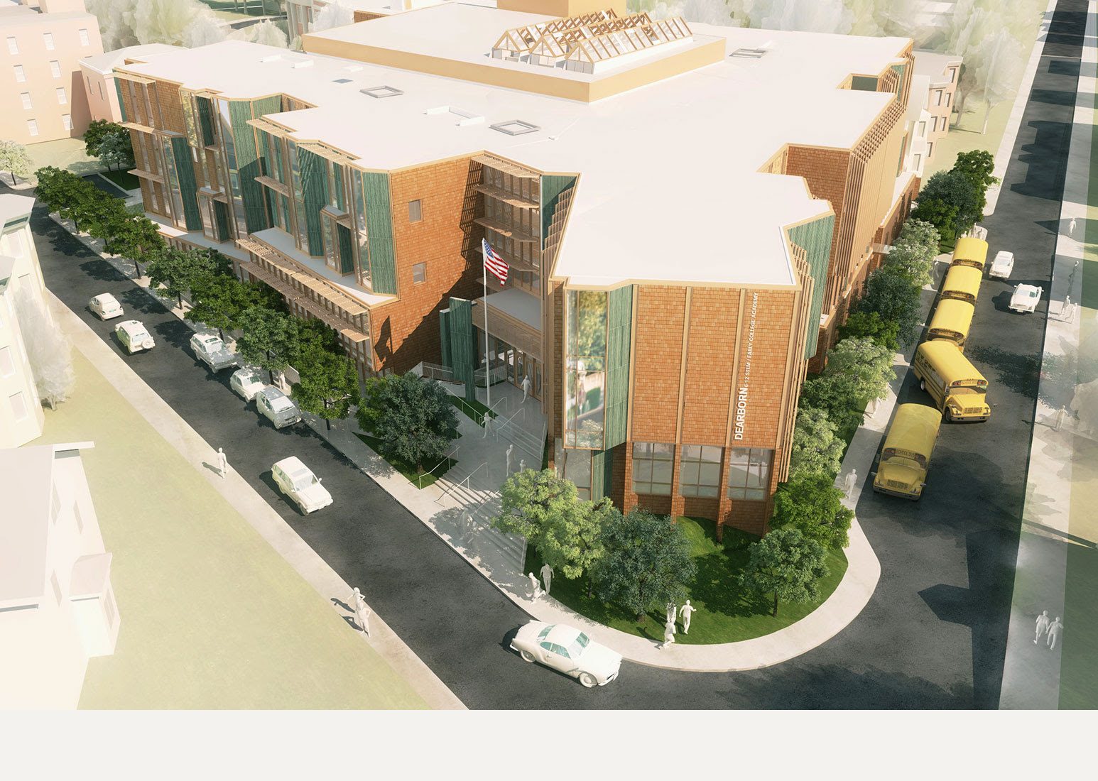 Design for the new Dearborn STEM Academy