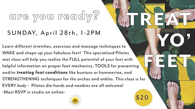 Mark your calendars! I'll be leading a special Treat Yo' Feet workshop Sunday April 28th! RSVP online with @thebridgembm to save your spot ✌🏻🦶🏼👍🏽