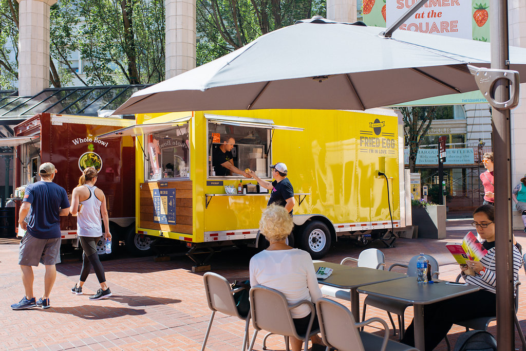 Our Pioneer Courthouse Square location is in the heart of downtown Portland. It's the best place for a grab-and-go breakfast or lunch.