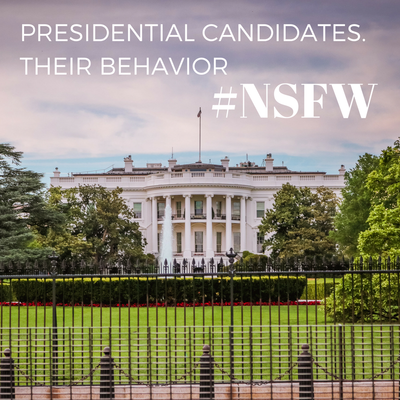 Don't emulate the behavior of our presidential candidates. Their antics set a bad example for young workers and are not tolerated in the workplace.