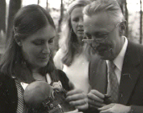 NDSS FOUNDER BETSY GOODWIN AND DR.JÉRÔME LEJEUNE WITH GOODWIN'S DAUGHTER CARSON
