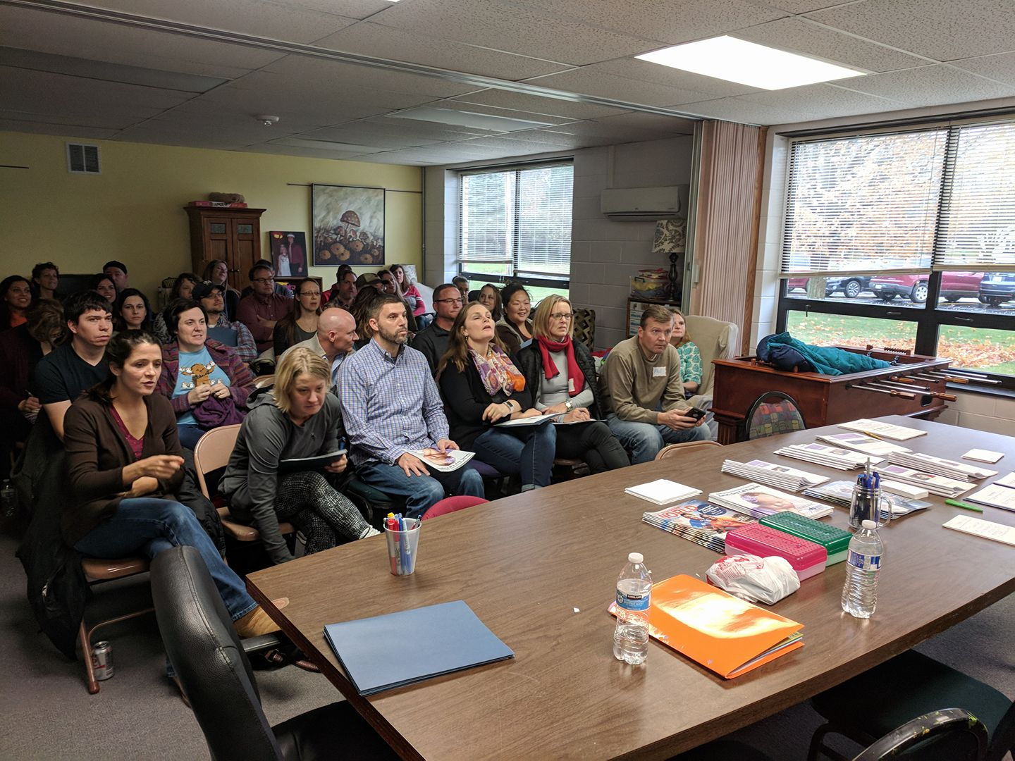 Parents attend the parent portion of our Sibling Workshop at our State Headquarters in West Allis.