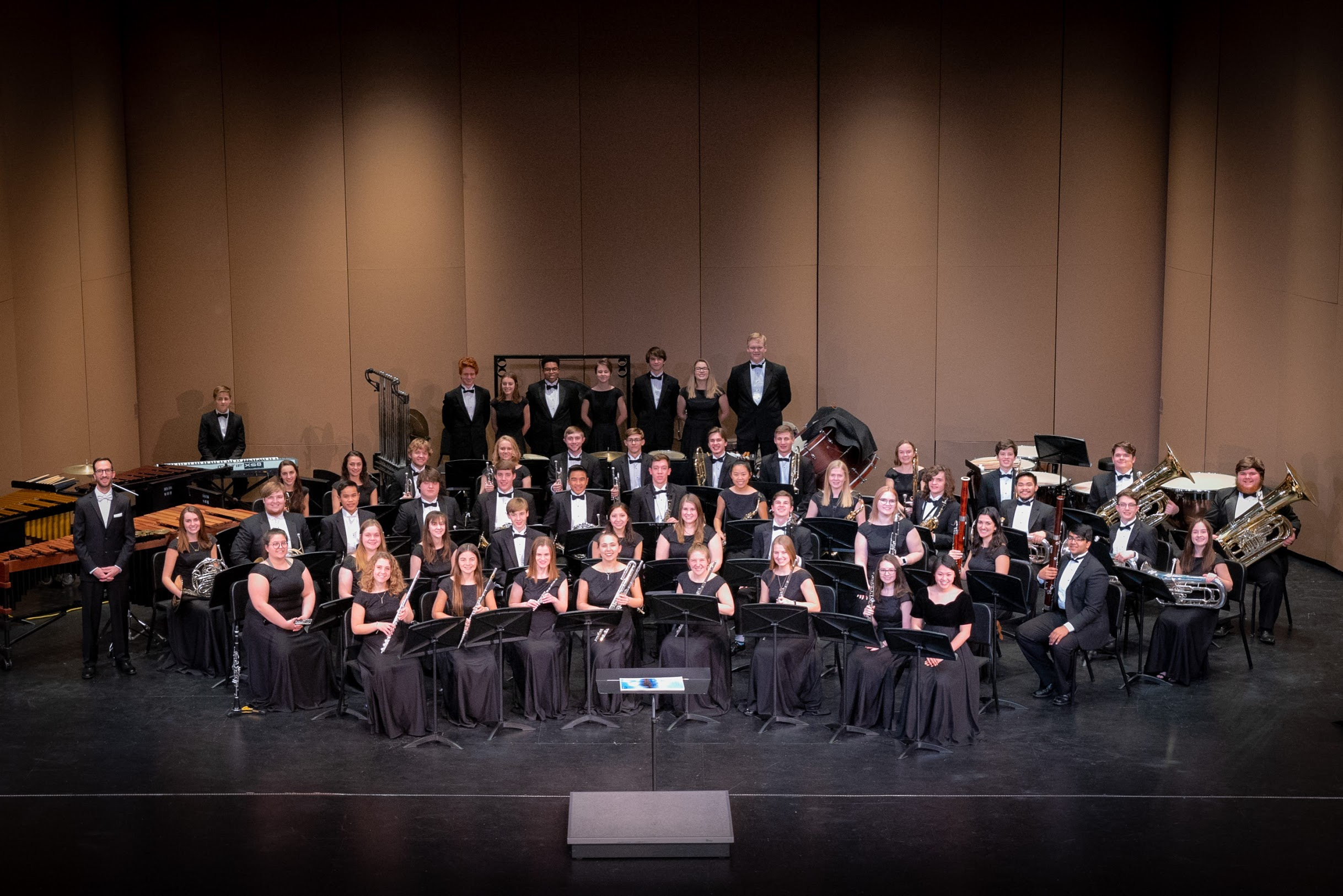 The Bentonville Wind Ensemble comprises of students 9 - 12 and is by audition only. The Bentonville Wind Ensemble performs collegiate level repertoire and is the flagship of the Bentonville Band Program.