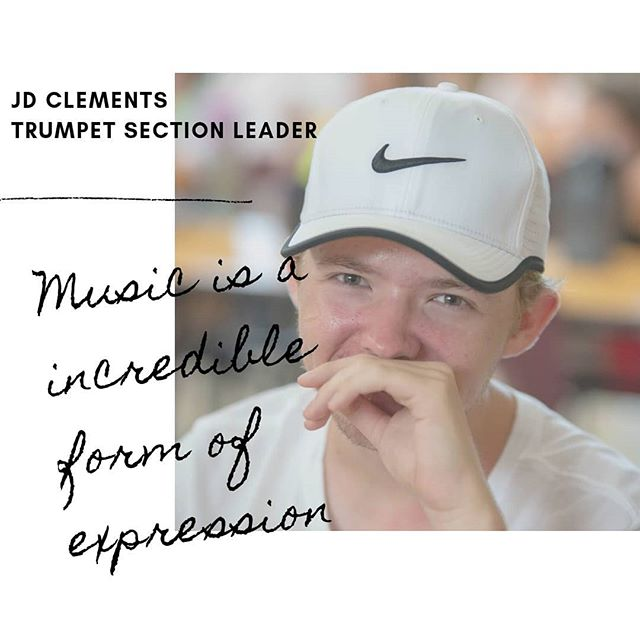 Meet JD Clements, Trumpet Section Leader.  JD loves all kinds of music and believes that music with its different forms is an means of self expression and a way to move people. JD is also a member of the Bentonville Chamber Choir.  Favorite Ice Cream: Capucciano Chunky Chocolate