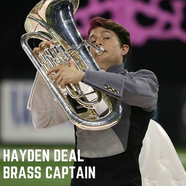 Meet Hayden Deal, Brass Captain of the Bentonville PRIDE Marching Band  Hayden is a senior euphonium and trombone player at BHS. He is excited about being the brass captain. Hayden also participates in the BHS swim team and he even has a pet fish named chicken.  Favorite Ice Cream: Cookie Dough