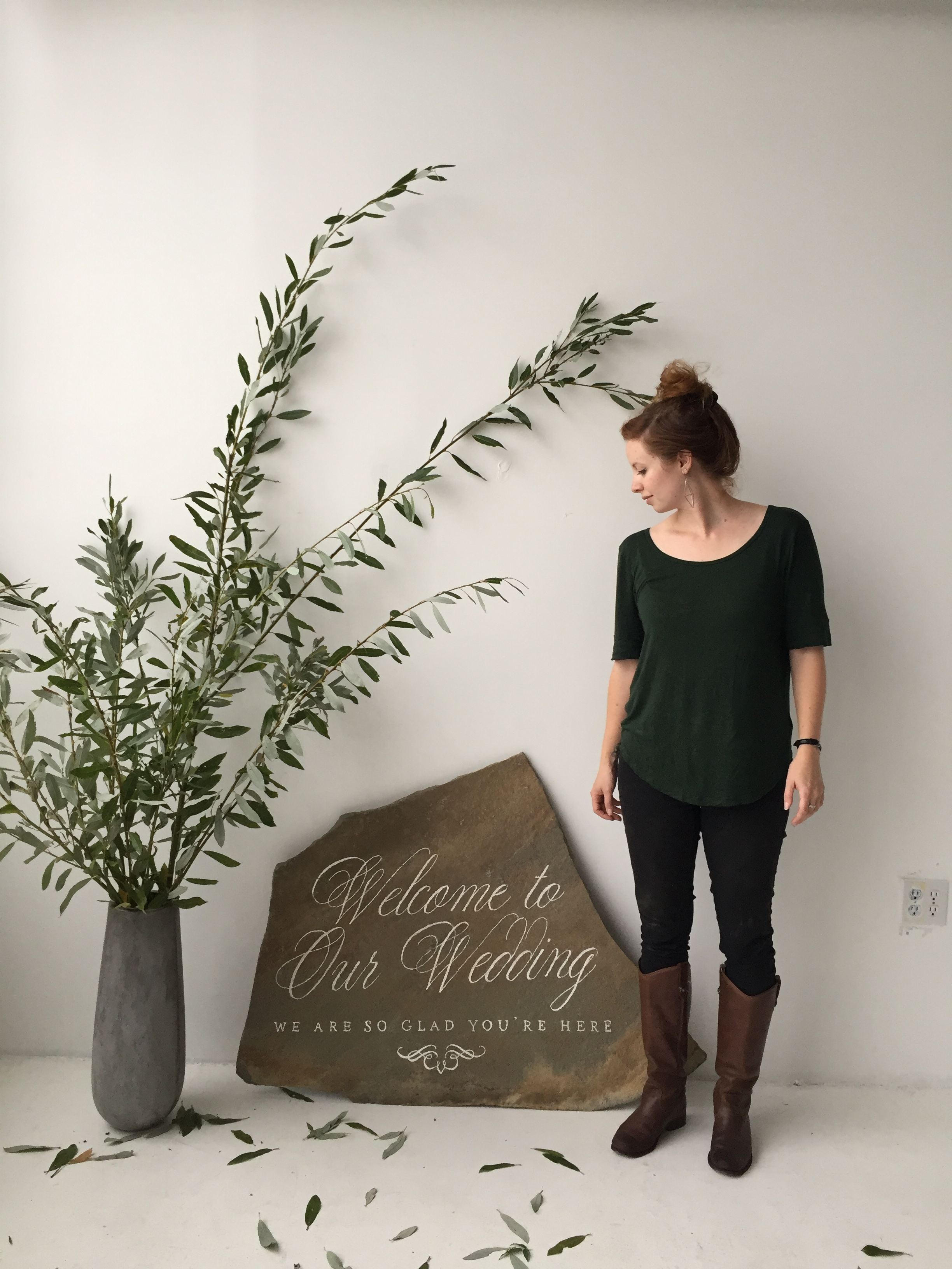Flagstone Welcome Sign by Bowerbird Atelier