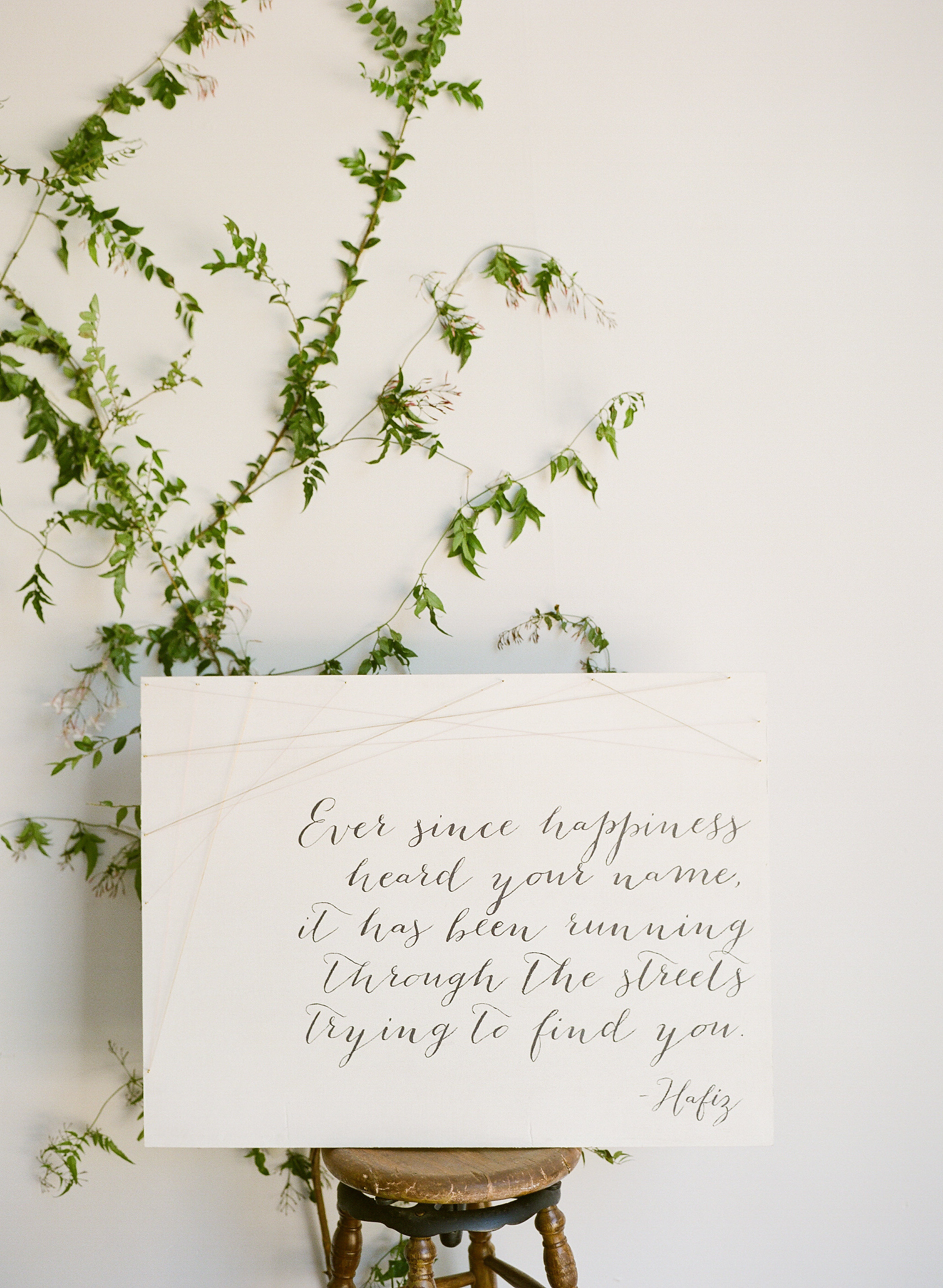 Quote Sign by Bowerbird Atelier | Photo by Sorella Muse