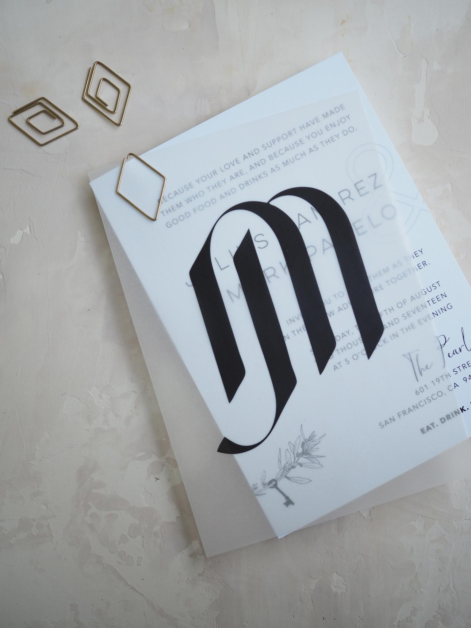 Vellum Invitation by Bowerbird Atelier