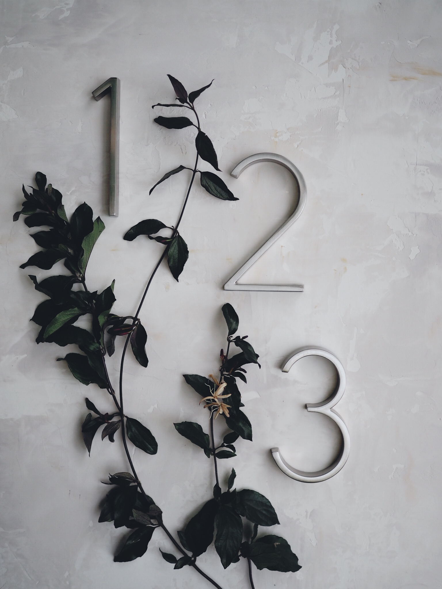 Dimensional Table Numbers by Bowerbird Atelier