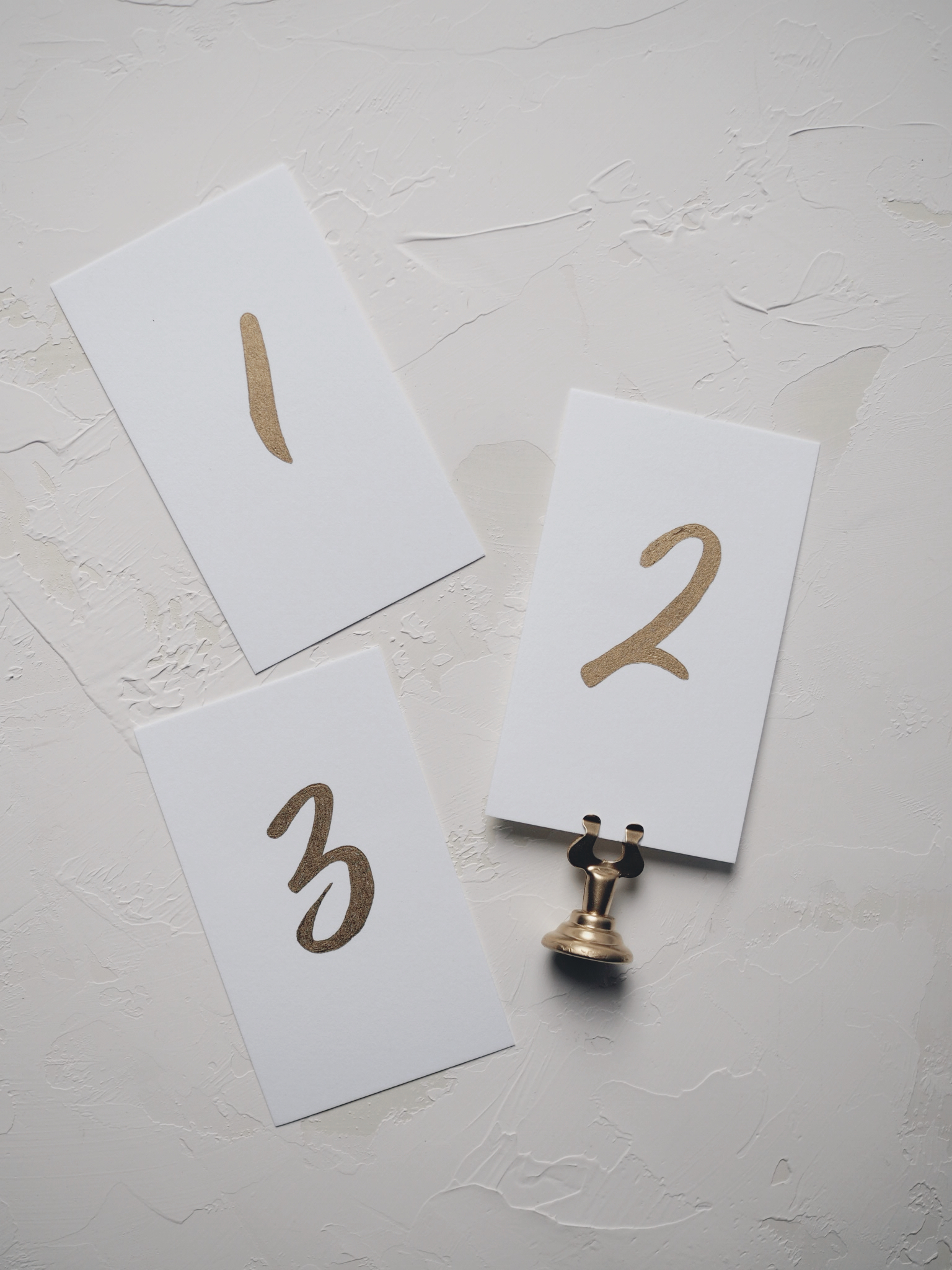 Gold Table Numbers by Bowerbird Atelier
