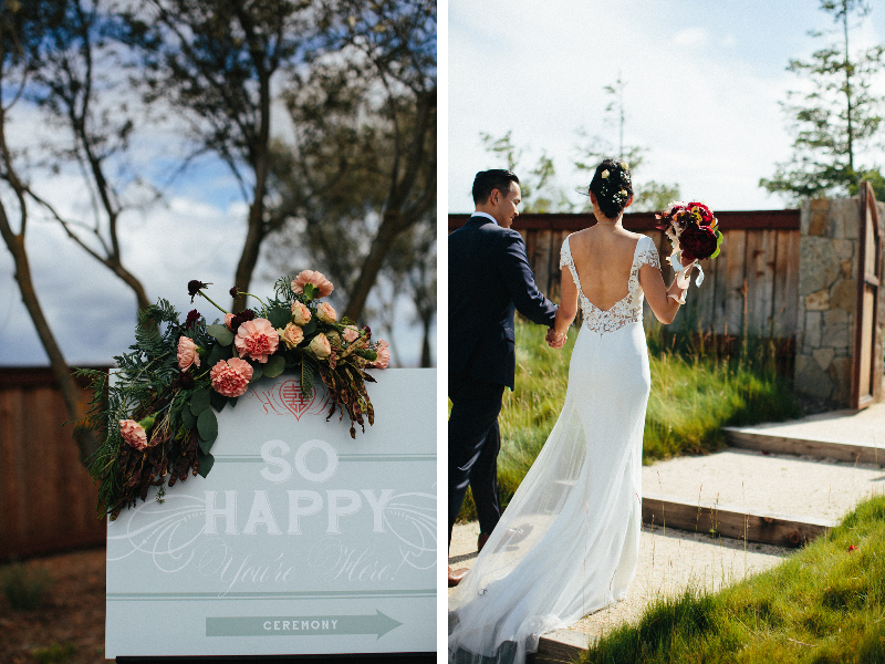 Photo by  Diana Rothery    Floral by  Aqua Floral Design