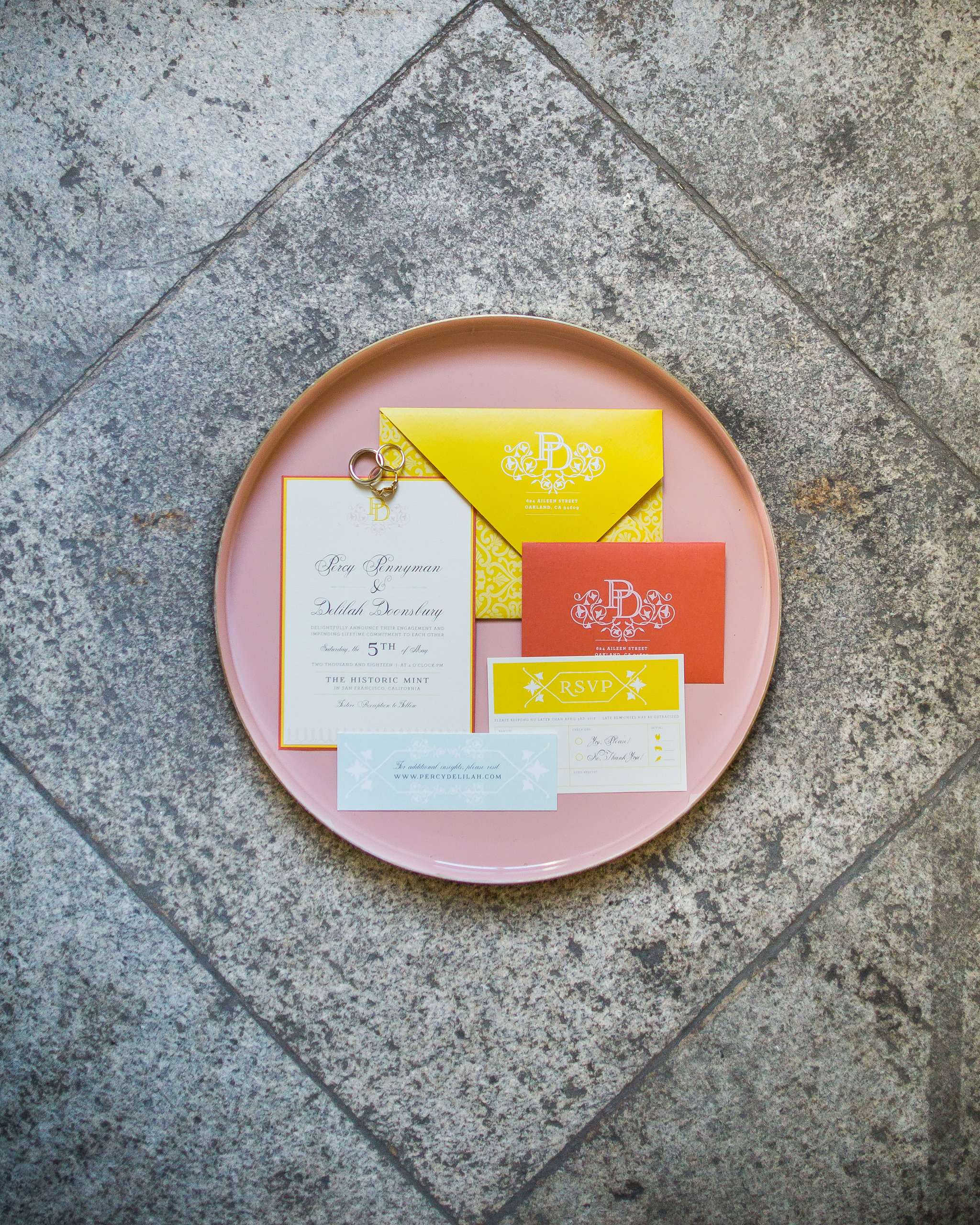 Invitation Suite by Bowerbird Atelier | Photo by Molly Kate Photography