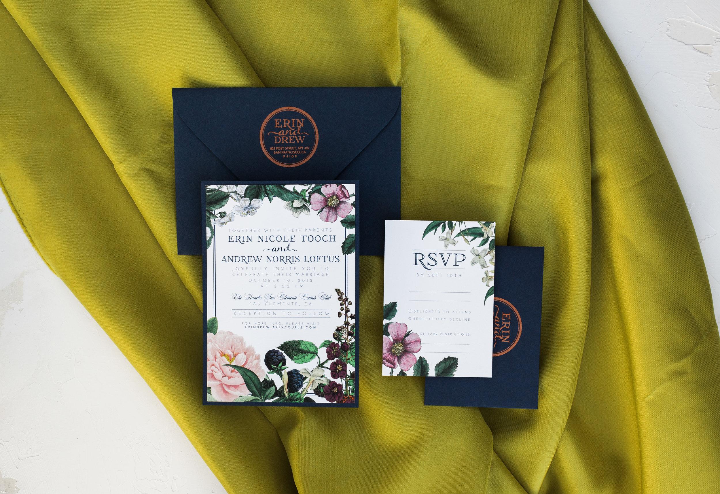 Invitation Suite by Bowerbird Atelier
