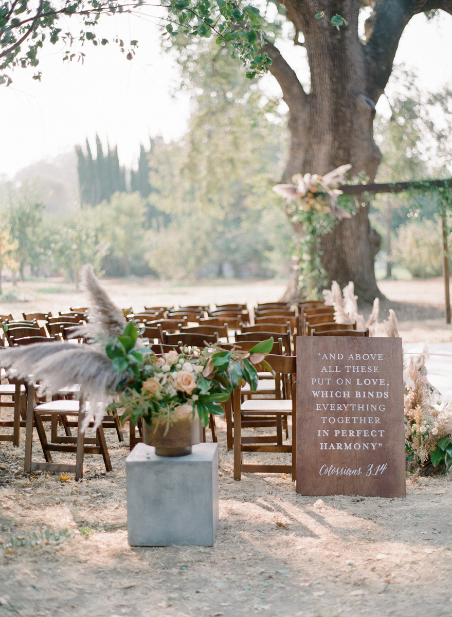 Custom Ceremony Quote Sign by Bowerbird Atelier | Photo by Jeanni Dunagan Photography