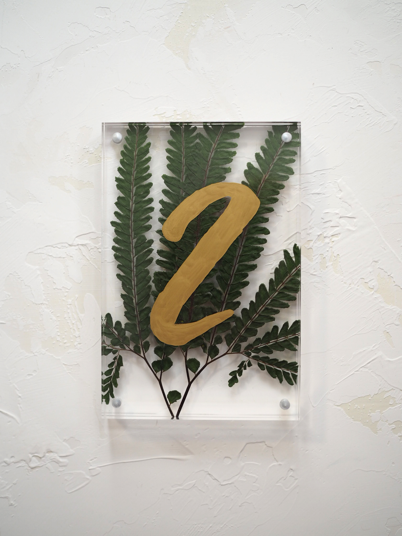 Custom Table Numbers by Bowerbird Atelier