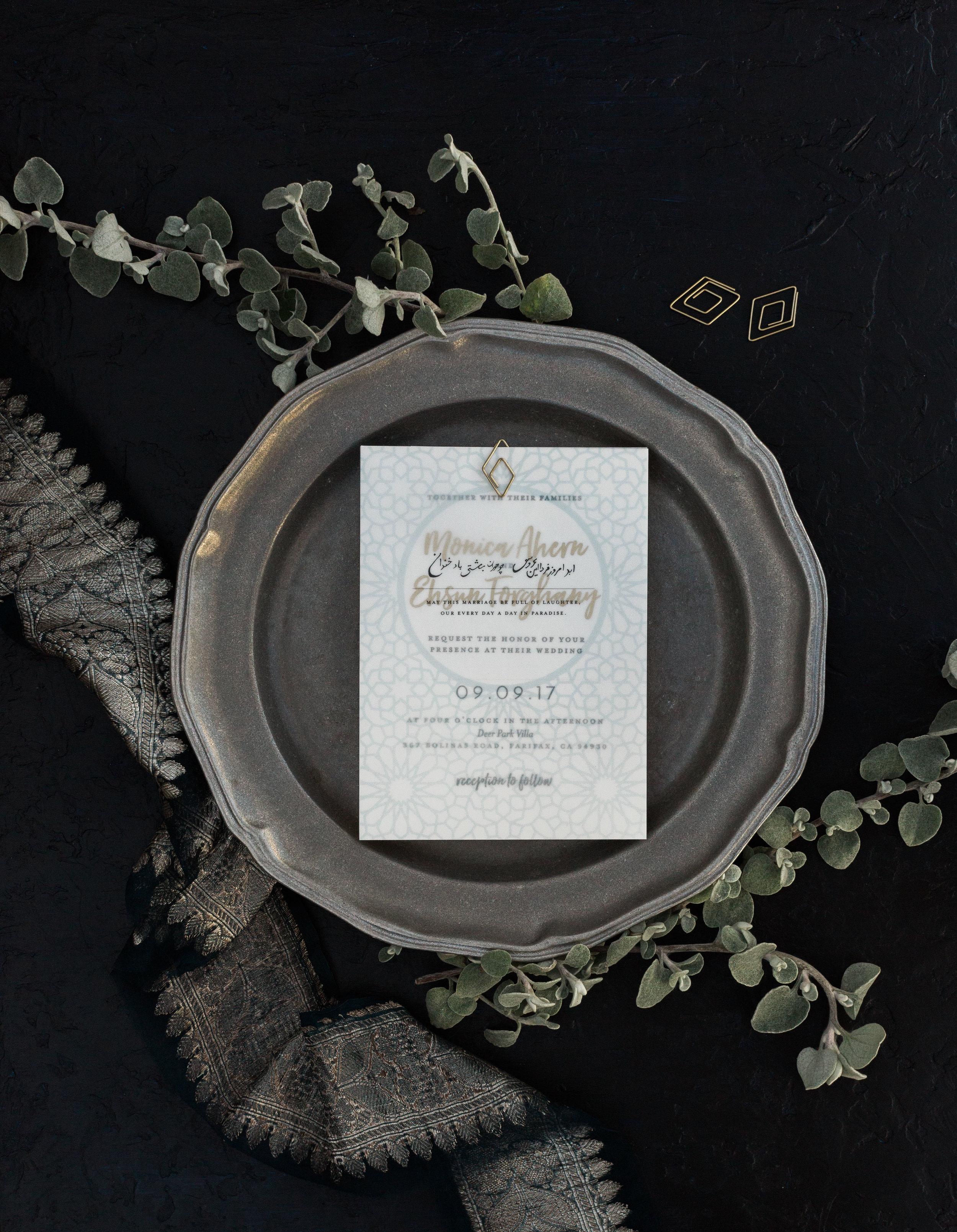 Custom Invitation by Bowerbird Atelier