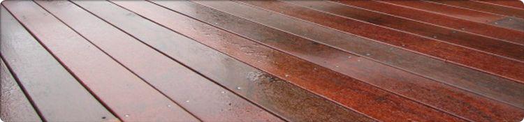 Jarrah Decking Example (wet)