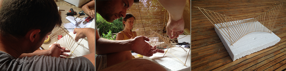 Model making of a theoretical bamboo structure