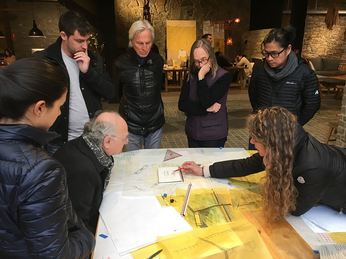 Working through our groups design ideas with the Glenn, Peter and Brit (photo by Louise Montgomery)